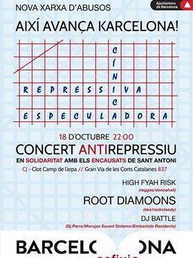 Concert Antirepressiu per Encausats de Sant Antoni
