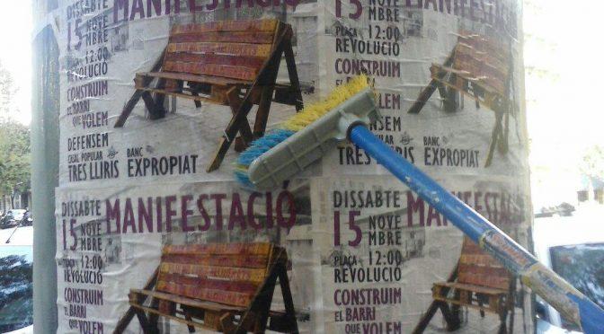 MANIFESTACIO EN DEFENSA EL BANC EXPROPIAT DE GRACIA I EL CP TRES LLIRIS