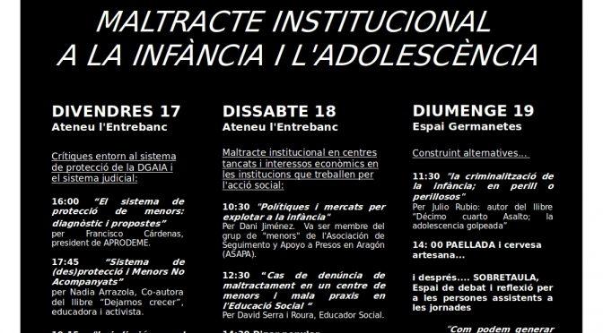 Jornades de maltracte institucional a la infància i l'adolescència